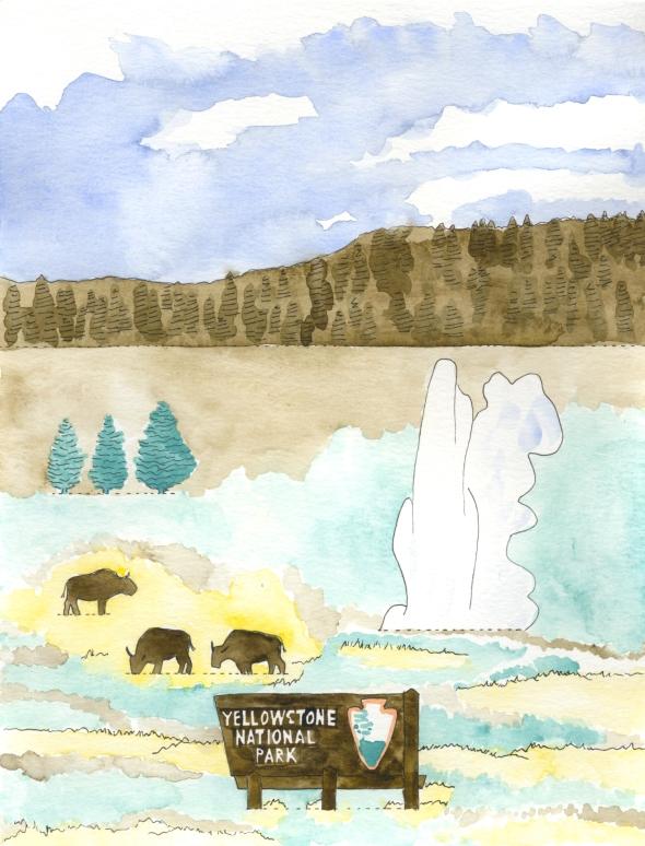 Yellowstone mini poster