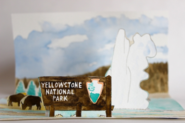 Yellowstone mini poster