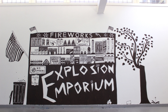 explosion emporium fireworks stand